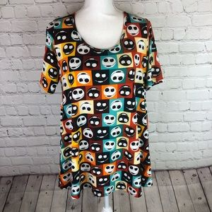 LuLaRoe Disney Perfect T shirt Jack Skellington S